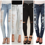 cheap distressed jeans