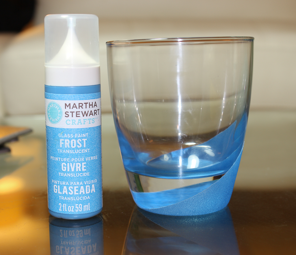 martha stewart frost glass paint blue calico