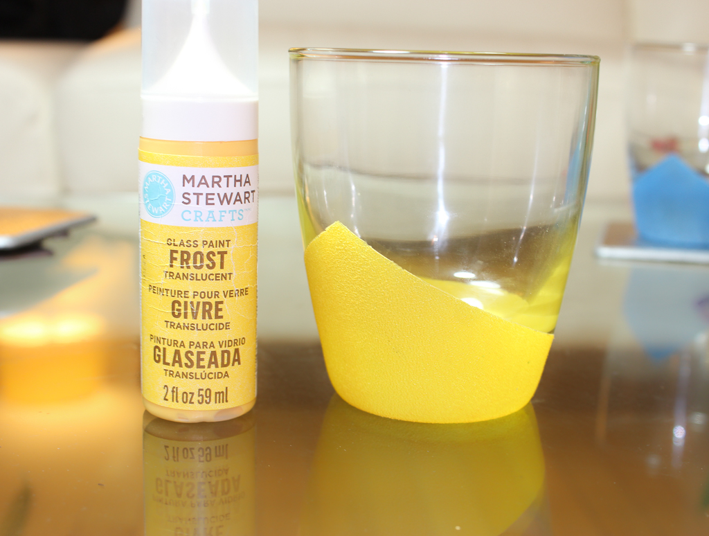 martha stewart frost glass paint yellow jacket